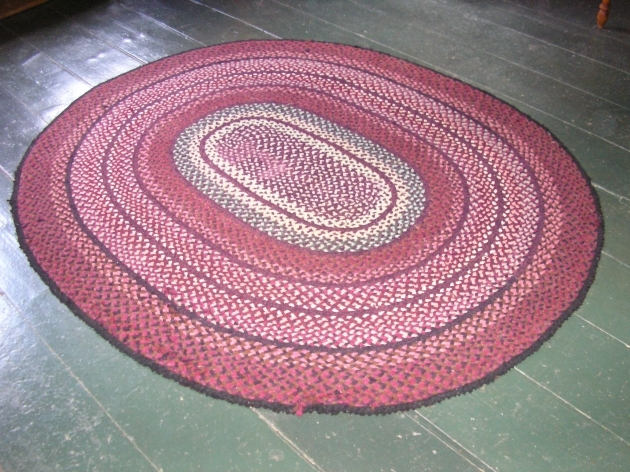 Pink Braided Rug Oval Images 29