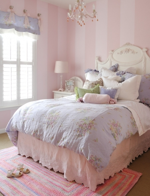 Pink Braided Rug Rectangular Ideas For Cute Bedroom Theme For Girl And Fancy Bedding Sets With Small Chandelier Image 48