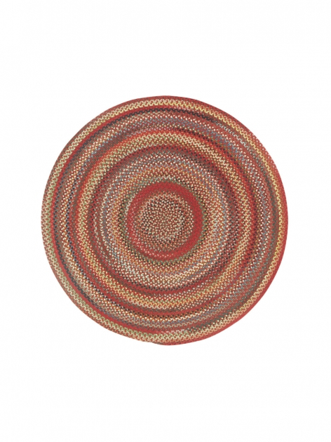 Portland Red Round Braided Rug Images 70