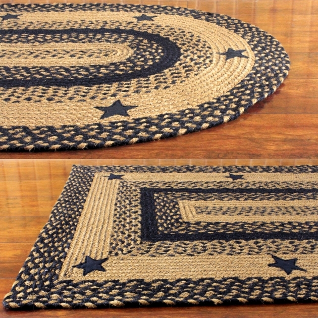 Primitive Braided Rugs Black Star Braided Rug Photo 24
