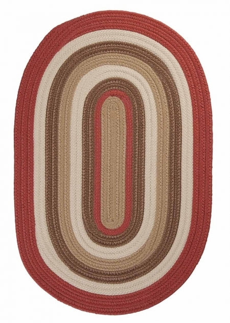 Red Braided Rug Colonial Mills Brooklyn Bn79 Terracotta Images 13