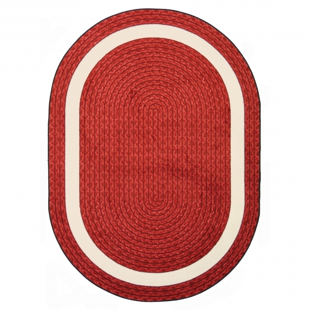 Red Braided Rug Joy Carpets Whimsy Sharing Circle Red Oval Rug Photos 90