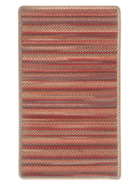 Red Cross Sewn Red Braided Rug Image 79