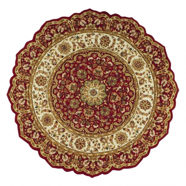 Round Cranberry Rug Area Rugs Ideas Image 09