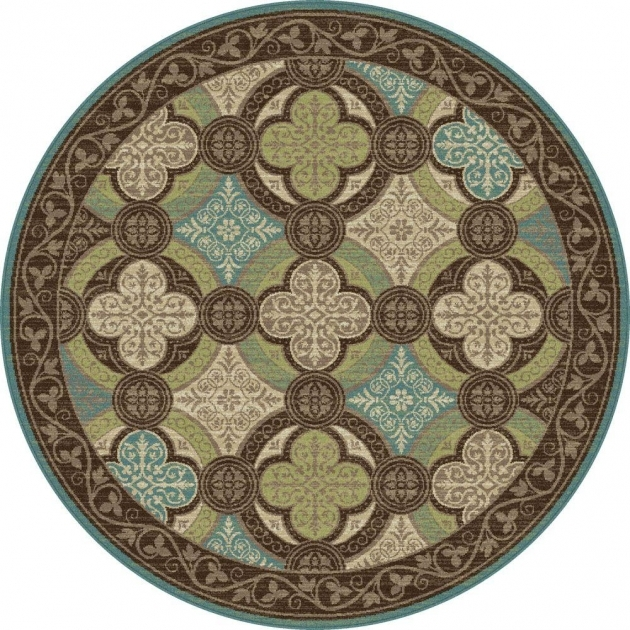 Round Cranberry Rug Capri Brown 5 Ft 3 In Transitional Tayse Rugs Round Area Rug Pictures 44