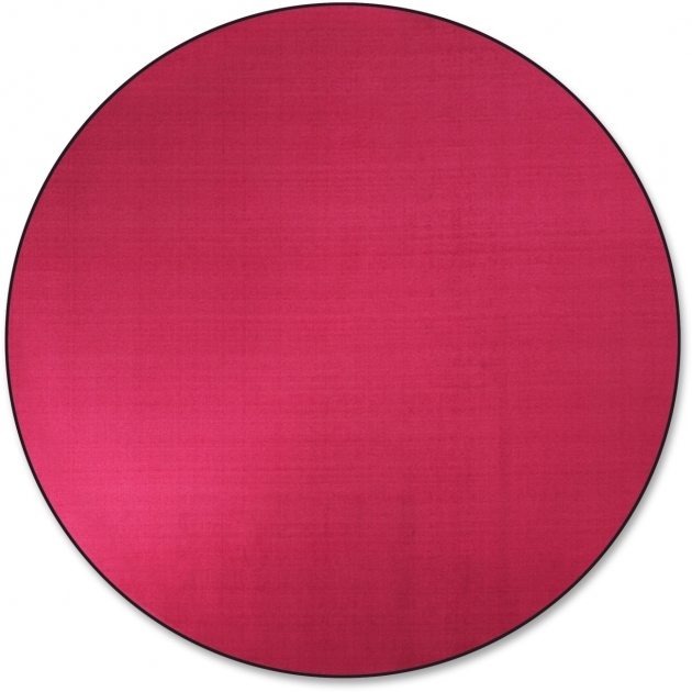 Round Cranberry Rug Flagship Carpets As27cb Classic Solid Color Pics 46