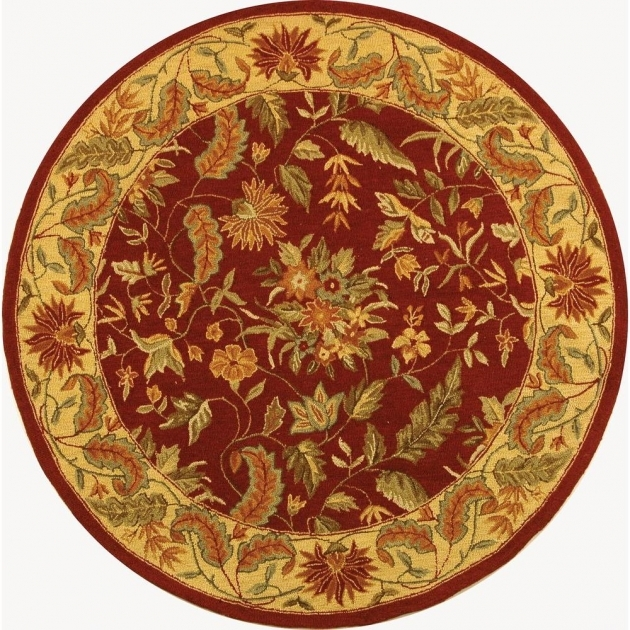 Round Cranberry Rug Home Decorators Collection Masterpiece Red 3 Ft 6 Pic 66