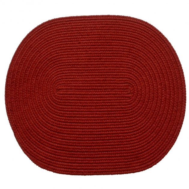 Solid Brilliant Red Braided Rug Ideas Picture 05
