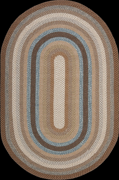 Stroud Braided Rugs Brown Oval Photo 96