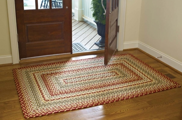 Stroud Braided Rugs Rectangle Cotton Braided Rugs In Big Sized On Wooden Floor Picture 13