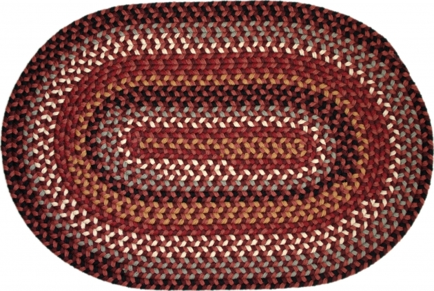Stroud Braided Rugs Ultra Durable Red Oval Photos 01