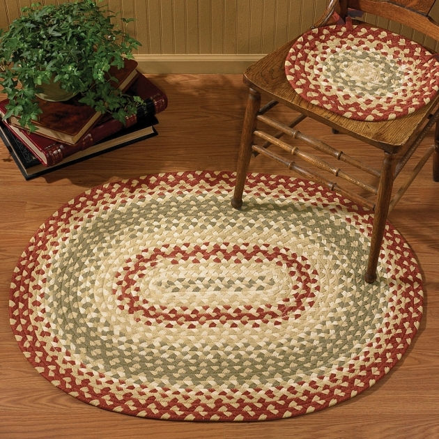 The Braided Rug Place PKD 444 435 Mill Village Oval Braided Rug Pic 25