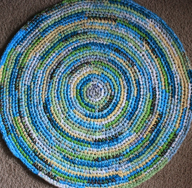 Wool Round Blue Braided Rug Living Room Ideas Handmade Pictures 63