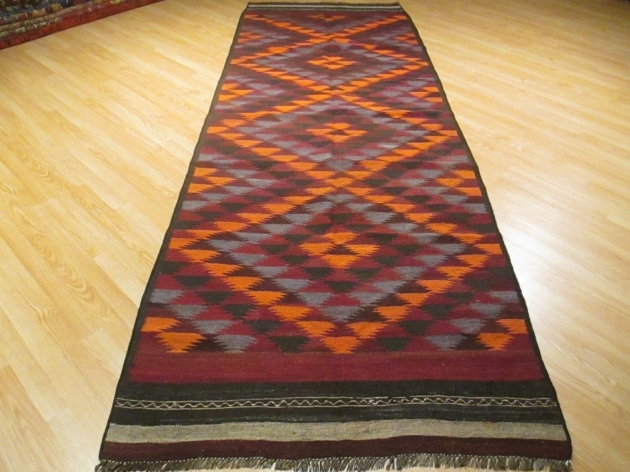 12 Foot Rug Runners KILIM Flat Weave Vegetable Dye  Image 33