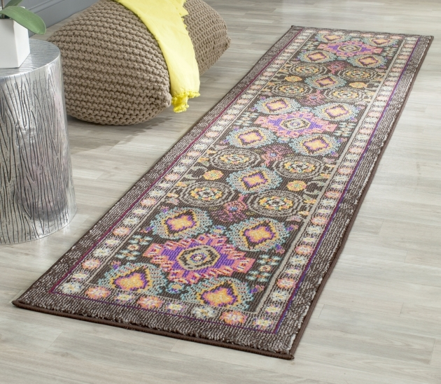 14 Foot Runner Rug Brown Multi Safavieh Monaco Polyproplene Images 27