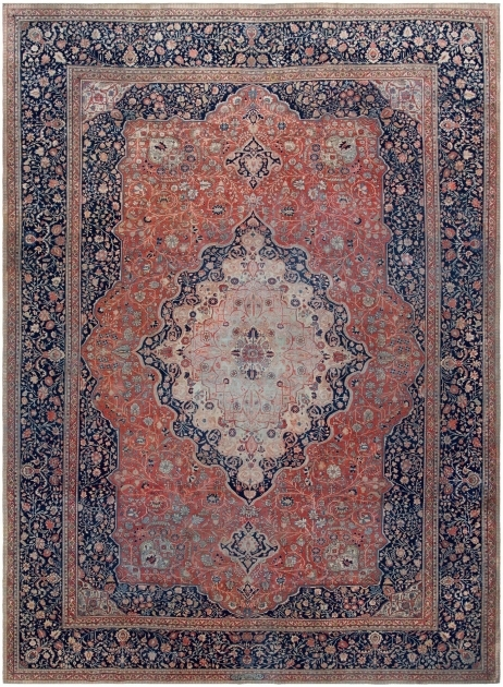 Antique Persian Mohtashem Kashan Rug 46248 Types Of Persian Rugs Photo 01
