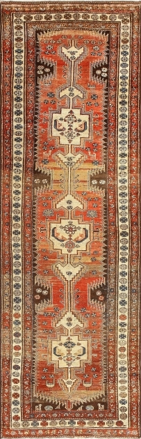Antique Persian Tribal Kurdish 14 Foot Runner Rug Pictures 82