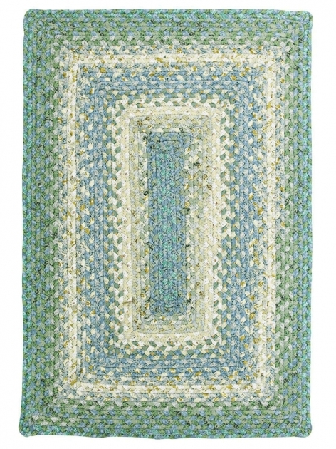 Baja Blue Cotton Braided Rug Rectangular How To Clean A Braided Rug Image 09