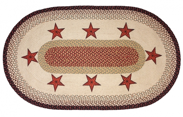 Barn Star Area Rug Braided Rugs 8x10 Image 78