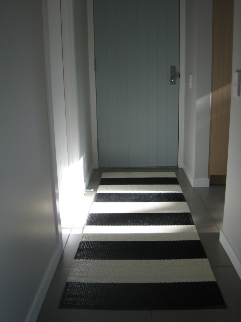 Black And White Striped Runner Rug For Hallway Entryway Pictures 54