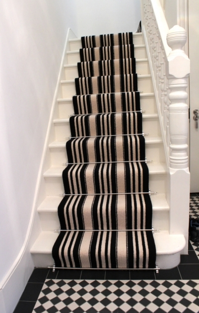 Black And White Striped Runner Rug Stairs Carpets Images 54