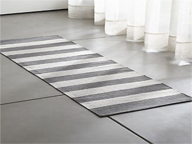 Black And White Striped Runner Rug With Border Grey Stripe Cotton Rug Runner Images 31