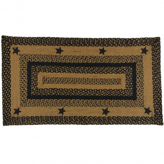 Black Star Rectangular Braided Rugs Images 58
