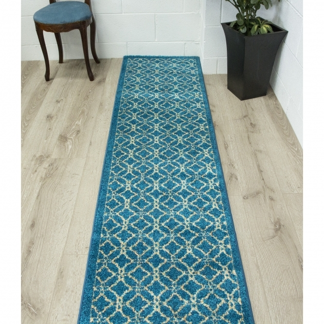 Bombay Fpp08 Turquoise Runner Rug Blue Photo 70