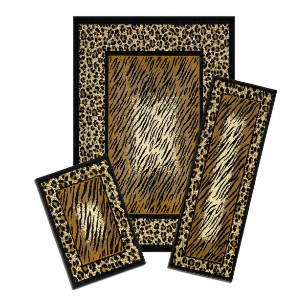 Capri Leopard Skin 3 Piece Set Contains 5 Ft X 7 Ft Area Rugs With Matching Runners Picture 03