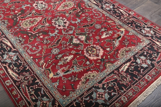 Cheap Persian Style Rugs Mashad Red Hand Knotted Wool Rug Image 12