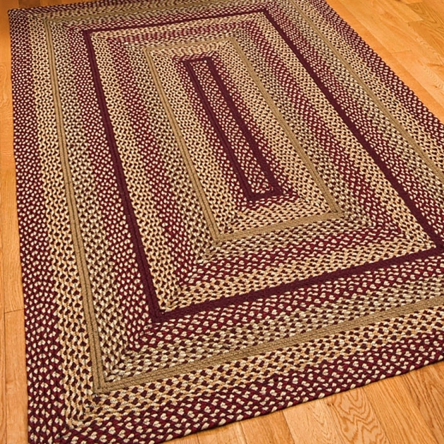 Checkerberry Design Rectangular Braided Rugs Images 29