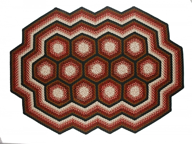 Country Braided Rugs Multi Hexagon Custom Pictures 70