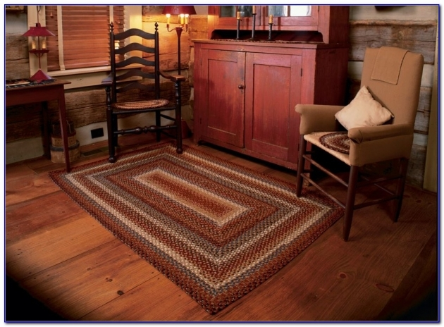 Country Braided Rugs Primitive Home Design Ideas Picture 00