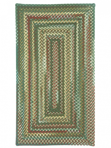 Dark Green Sherwood Forest Rectangular Braided Rugs Cottage Home Images 56