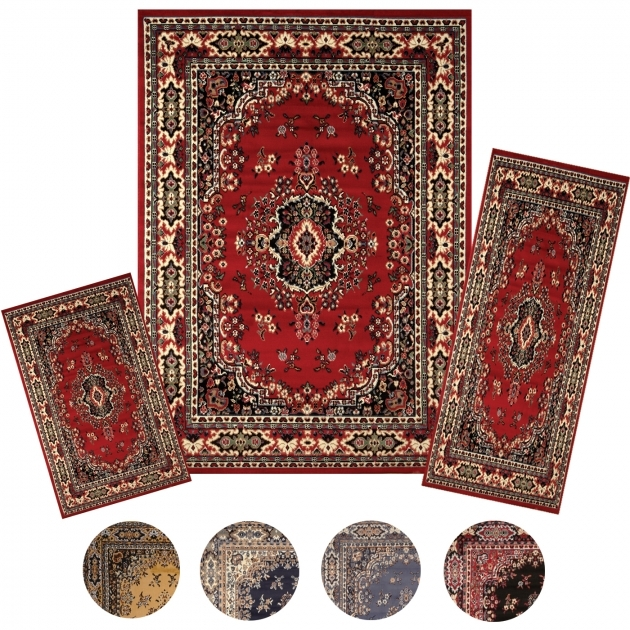Dd Ariana 3pcset Persian Area Rugs With Matching Runners Photo 59