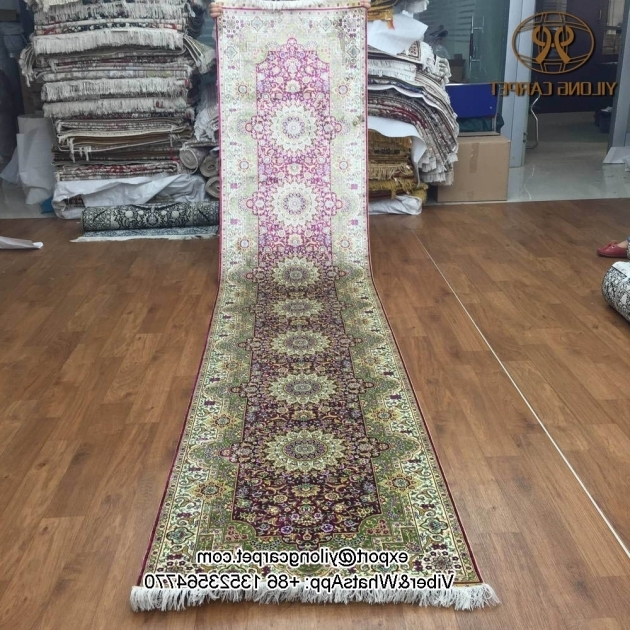 Extra Long Rug Runners Yilong 2 5 X12 China Silk Carpet Hand Knotted Oriental Persian Photos 77