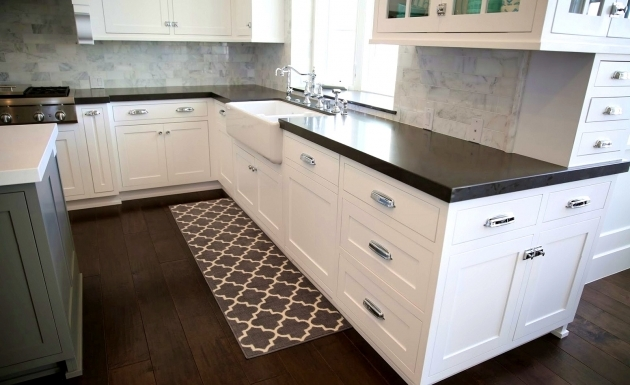 Foxy Black And White Kitchen Design With Runner Rugs For Kitchen Best Home Damask Rug Striped Photo 40