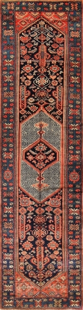 Hallway 15 Foot Runner Rug Carpet Antique Persian Malayer Picture 59