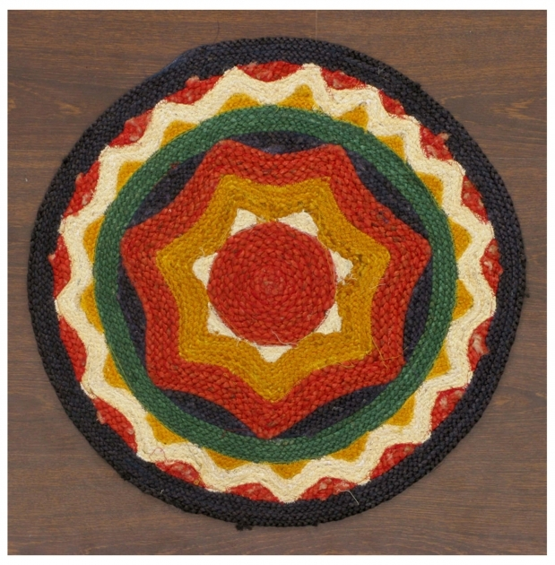 Handmade Braided Rugs 13529 22rd Southwestern Braided Wool Jute Round Rug Images 67