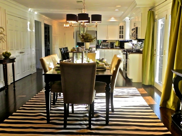 Kitchen Table Rugs Decorating Floor Black And White Striped Runner Rug Pictures 26