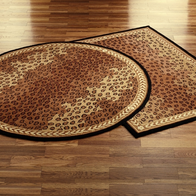 Leopard African Area Rugs Rug Black Brown Braided Rugs 8x10 Photo 72