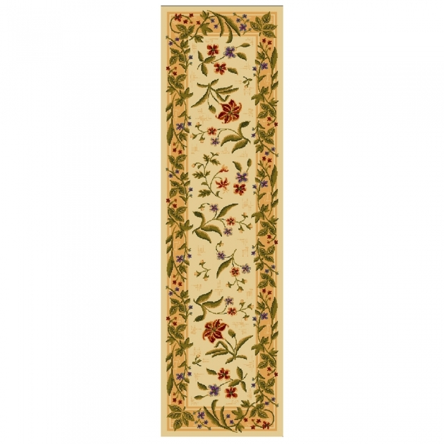 Lowes Rug Runners Mohawk Home Summer Flowers Beige Rectangular Indoor Picture 15
