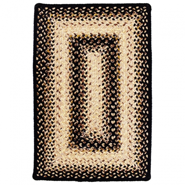 Outdoor Braided Rugs Black Mist Durable Braided Rug Stain Proof Rectangle 2 1  Pictures 03