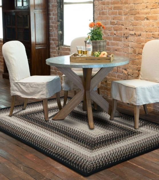 Outdoor Braided Rugs Black Mist Ultra Durable Braided Rugs Indoor Outdoor Stain Proof Room Photos 55