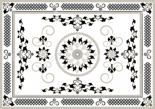 Persian Rug Designs Decorative Frame Of Oriental Pattern Graphic Arts Stock Vector Rug Image 94