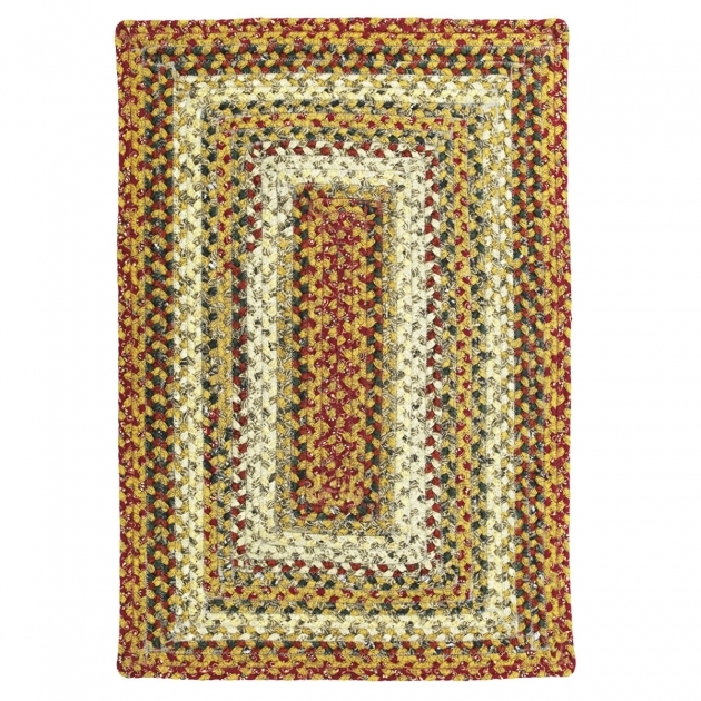 Pumpkin Pie Cotton Rectangular Braided Rugs Country Picture 97