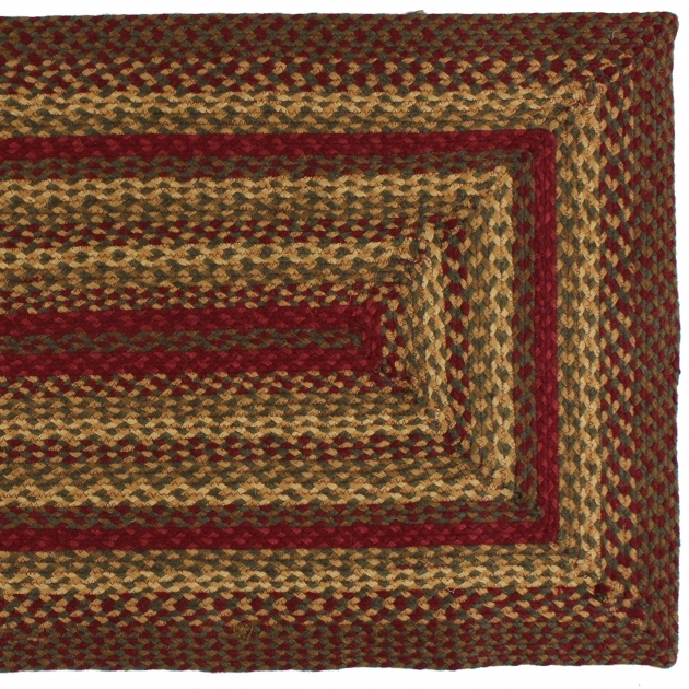 Rectangular Braided Rugs Cinnamon Rectangle Braided Rug Photos 16