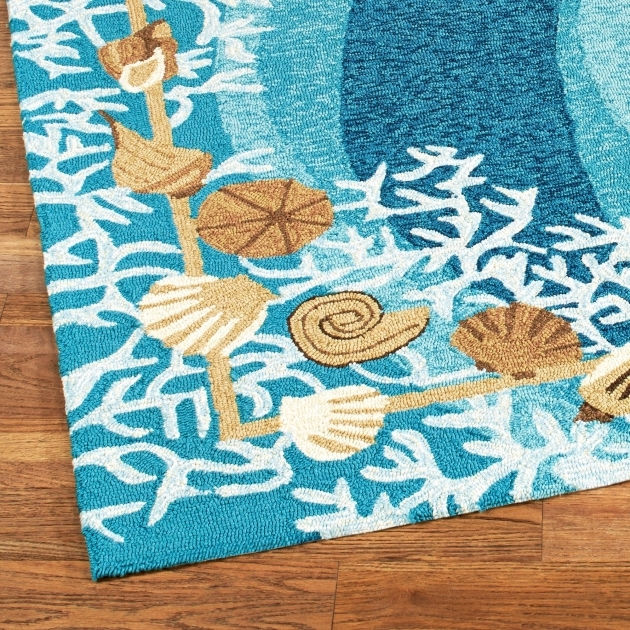 Shells And White Coral Coastal Rug Runners Indoor Outdoor Rugs Image 93