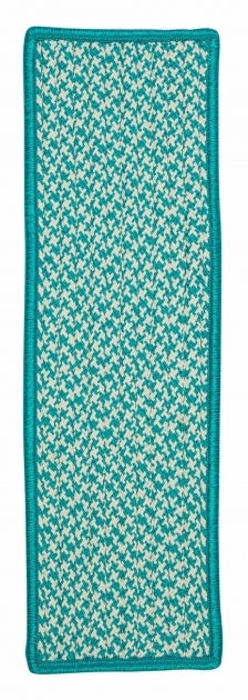 Turquoise Runner Rug Braided Stair Treads Rug Runners Steps Image 01