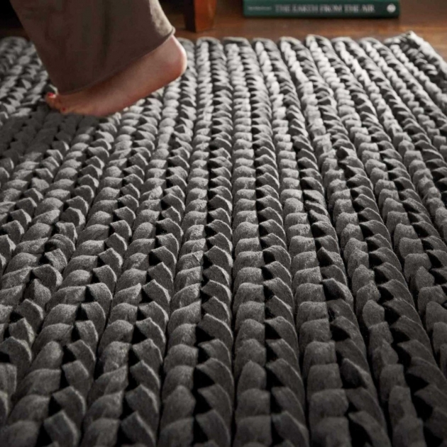 Urbane Grey Set 13072 Large Braided Rugs Pictures 53
